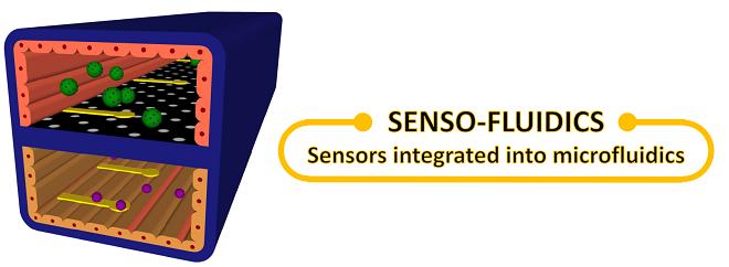 Senso-Fluidics: Continuous Monitoring Using Sensors in Microfluidics