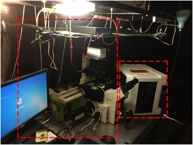 Left: Part of a microfluidic system in an academic lab, Right: A commercial prototype of the same system. (Image courtesy of CBio and Arizona State University)